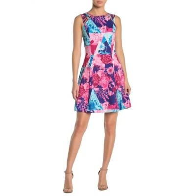ゲス レディース ワンピース トップス Floral Colorblock Strappy Fit & Flare Dress MULTI