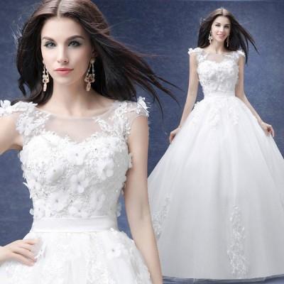 ウエディングドレス 安い 二次会 ウェディングドレス 結婚式 プリンセスライン エンパイア 花嫁 プリンセス 披露宴 挙式 ロングドレス 白 ブライダル バックレス