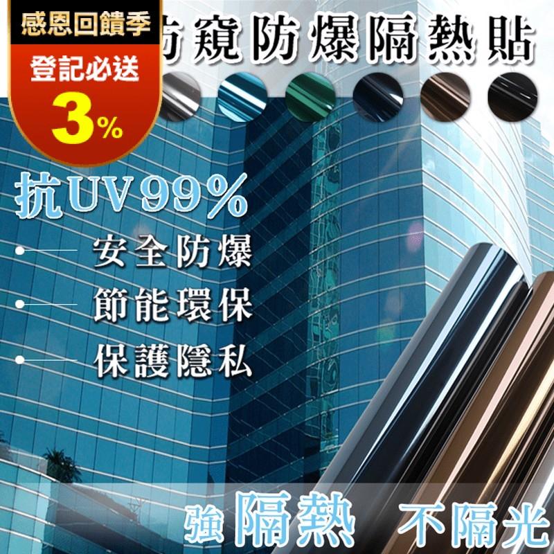防窺隔熱抗UV玻璃貼