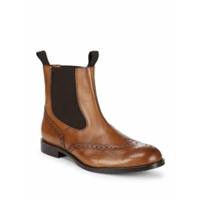 マッシモマッテオ メンズ シューズ ブーツ Double Gore Perforated Leather Boots