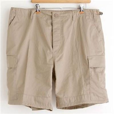 アメリカ軍 BDU カーゴショートパンツ/迷彩服パンツ 【XSサイズ】 リップストップ カーキ 【レプリカ】