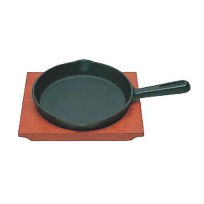 日本製 IH 対応 ステーキ 皿 セット 17cm 自宅でも使える プロ仕様 ハンバーグ スパゲティー 焼きそば など 鉄板焼 にも 木台 取り外し式 柄付 丸型 買い回り