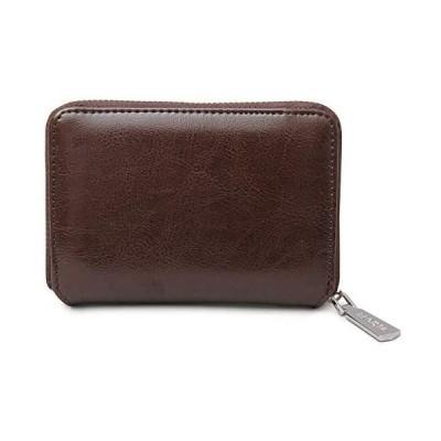 [レジスタ] レザー ビルフォードウォレット ラウンドファスナー 二つ折り財布 ボックス型小銭入れ (ダークブラウン One Size)