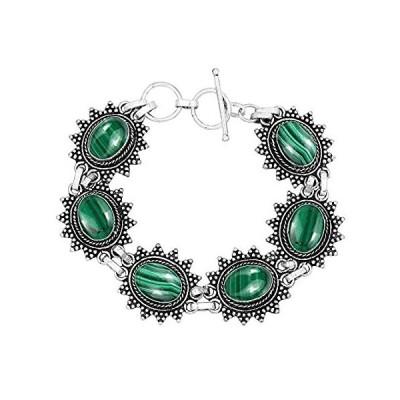 天然の宝石 925スターリングシルバー オーバーレイ ハンドメイド ファッションブレスレットジュエリー