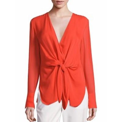 3.1 フィリップ リム レディース トップス シャツ Silk Tie-Front Blouse