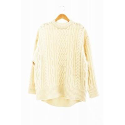 【中古】ハイク HYKE 19AW fisherman sweater フィッシャーマン セーター 1 ベージュ 200926 0100