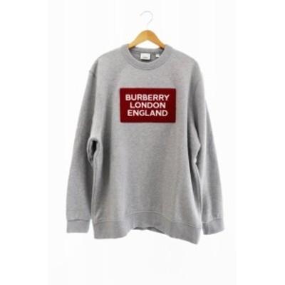 【中古】バーバリー ロンドン BURBERRY LONDON 19AW ロゴ 刺繍 アップリケ スウェット トレーナー XL 200221 0160