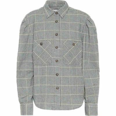 イザベル マラン Isabel Marant, Etoile レディース ブラウス・シャツ トップス Falco Checked Cotton-Blend Shirt Green