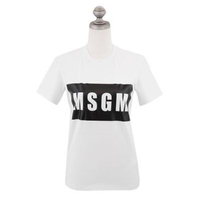 MSGM エムエスジーエム MSGM ロゴプリント Tシャツ MDM95 2641 195296 T-SHIRT レディース クルーネック ロゴ WHITE ホワイト XS-M