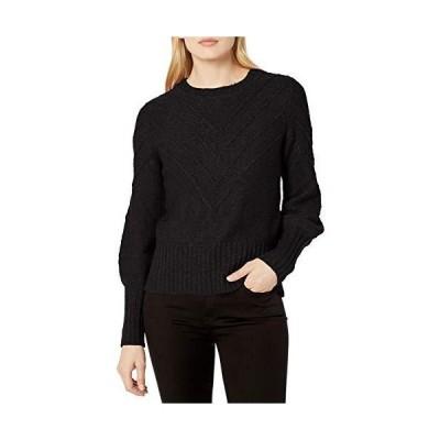 kensie Women's Cotton Blend Sweater, Black, Medium並行輸入品 送料無料