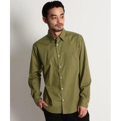 【オペークドットクリップ】 コットンストレッチシャツ メンズ カーキ 03(L) OPAQUE.CLIP