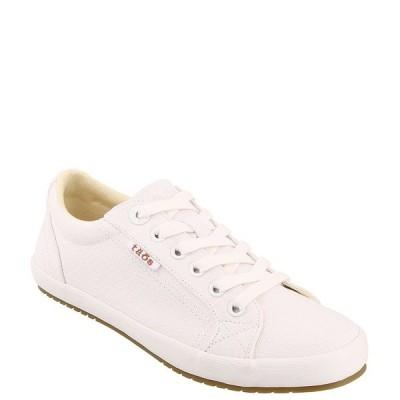 タオスフットウェア レディース サンダル シューズ Star Washed Canvas Lace-Up Sneakers White/white