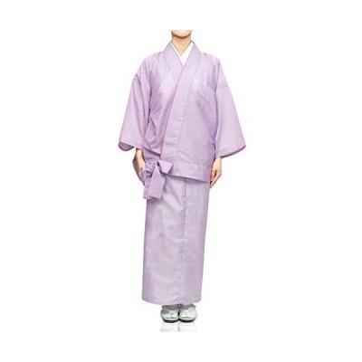 [キョウエツ] 着物 洗える 二部式 駒絽 レディース (浅紫 M)