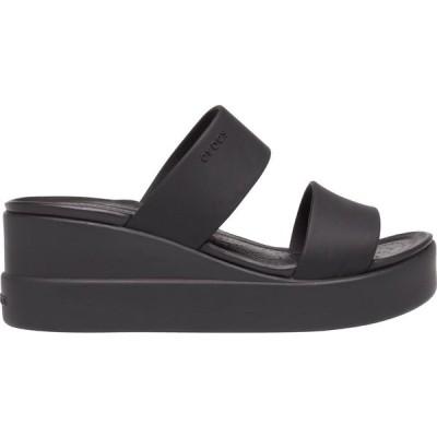 クロックス サンダル シューズ レディース Crocs Women's Brooklyn Mid Wedge Sandals Black