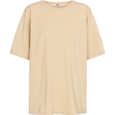 トーテム Toteme レディース Tシャツ トップス Oversized cotton jersey T-shirt Champagne
