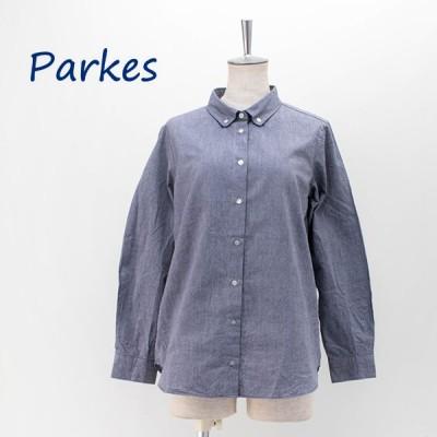 Parkes パークス レディース シャンブレー ボタンダウンシャツ(PN2031004)(2020FW)