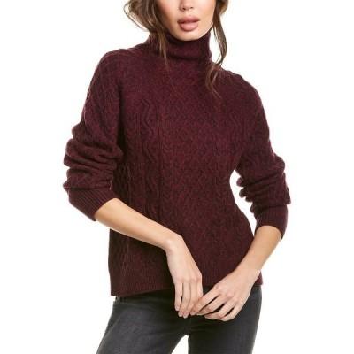 ヴィンス ニット&セーター アウター レディース Vince Cable-Knit Wool-Blend Sweater -