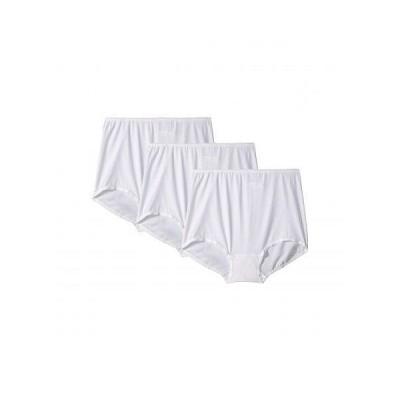 Bali レディース 女性用 ファッション 下着 ショーツ Skimp Skamp Brief 3-Pair - White