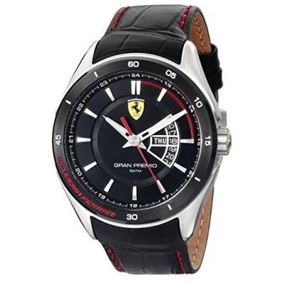 フェラーリメンズ0830183?Gran Premioアナログ表示クォーツブラック腕時計