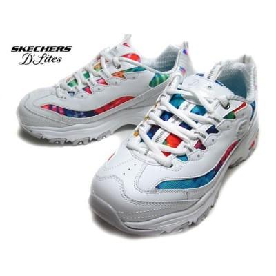 スケッチャーズ SKECHERS 149015 D'Lites-Summer Fiesta ホワイトマルチ スニーカー レディース 靴