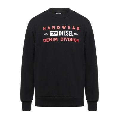 ディーゼル DIESEL スウェットシャツ ブラック 3XL コットン 60% / ポリエステル 40% / ポリウレタン スウェットシャツ
