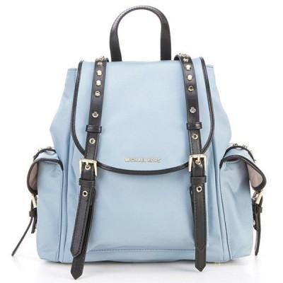 マイケルコース バックパック Michael Michael Kors  Leila Nylon Medium Flap Backpack ナイロン ミディアム フラップ バックパック (ペールブルー)