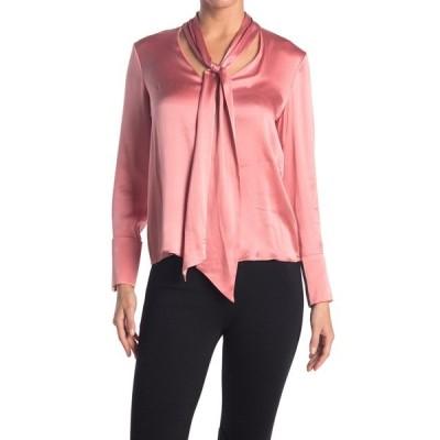アリス アンド オリビア レディース シャツ トップス Rosina Front Tie Silk Blend Blouse ROSE