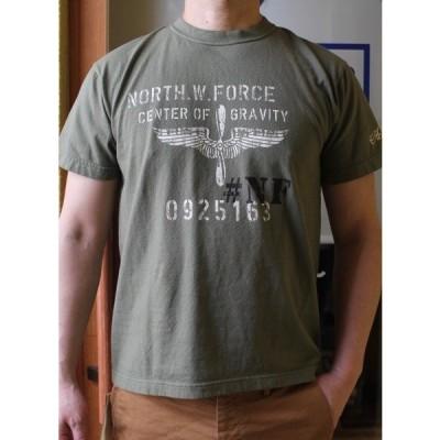 ACOUSTIC アコースティック W.FORCE TEE  頑丈なTシャツ【絶対に首の伸びない丈夫なTシャツ】ユニセックス 大きいサイズあり