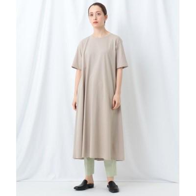 INDIVI(インディヴィ) 【WEB限定】バックタックTシャツワンピース