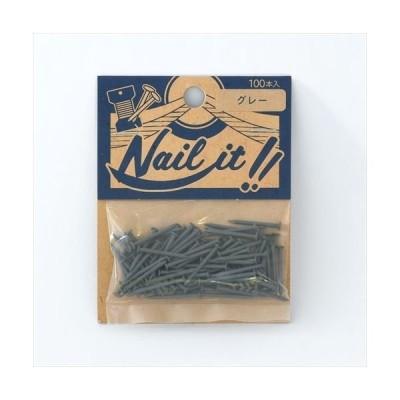 若井ホールディングスNAILIT釘#17×19 100本袋入りグレー NF10025 1セット 若井ホールディングス(直送品)