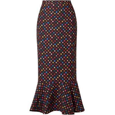 サローニ SALONI ロングスカート ブラック 8 ポリエステル 94% / ポリウレタン 6% ロングスカート