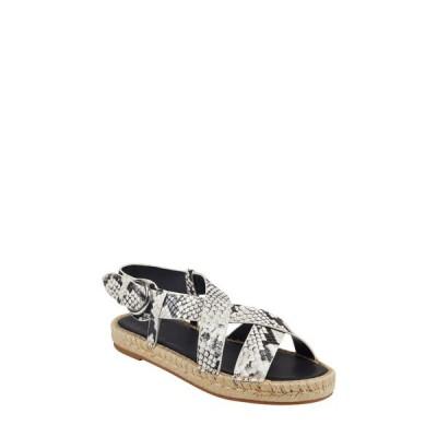 マーク・フィッシャー サンダル シューズ レディース Tallia Espadrille Sandal Grey Snake Print Leather