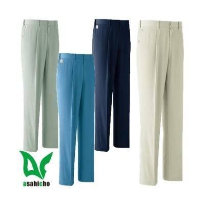旭蝶繊維 ASAHICHO ポケットレスパンツ(ワンタック脇シャーリング) E0401