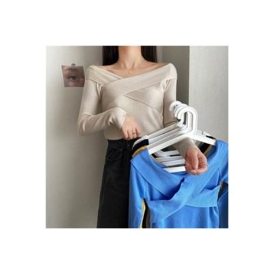 【送料無料】韓国風 クロス 2way フラットネック 着やせ 底セーター | 364331_A63898-1833799