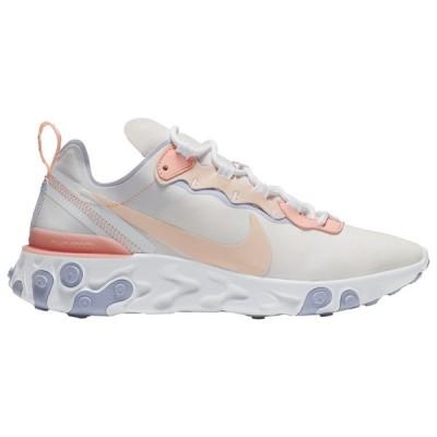 ナイキ リアクト エレメント55 レディース Nike React Element 55 スニーカー Pale Pink/Washed Coral/Oxygen Purple