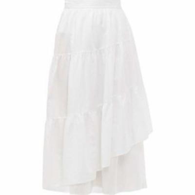 マーレット Merlette レディース ひざ丈スカート ラップスカート ティアードスカート スカート Hallerbos tiered wrap cotton-lawn midi