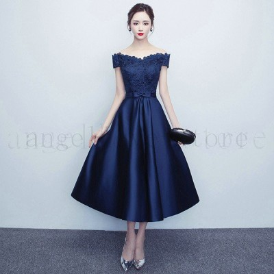 パーティードレス レディース ワンピース 結婚式 花嫁 レースドレス ミモレ丈ドレス お呼ばれ dre上品 ワインレッド 大きいサイズ