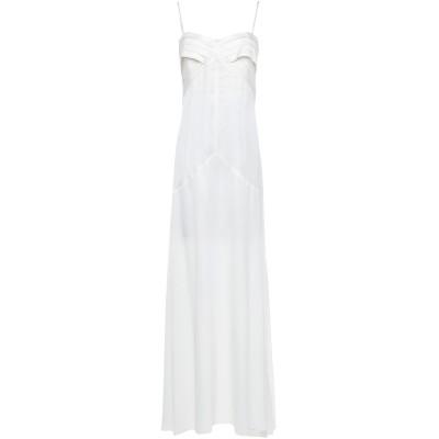 パトリティア ペペ セーラ PATRIZIA PEPE SERA ロングワンピース&ドレス ホワイト 40 アセテート 70% / シルク 30%