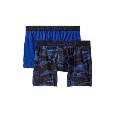 ジョッキー Jockey メンズ ボクサーパンツ 2点セット インナー・下着 Athletic Rapidcool Boxer Brief 2-Pack Fusion/Prussian Blue