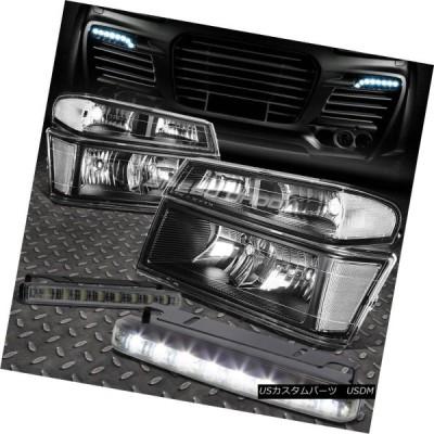 ヘッドライト BLACK HEADLIGHT + CLEA   Rコーナー+ 8 LED SMOKE FOGライト、04-12