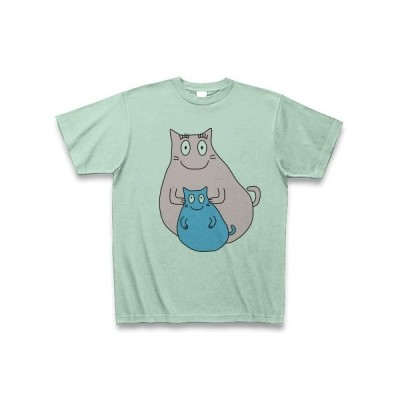 にゃーにゃパパ Tシャツ(アイスグリーン)