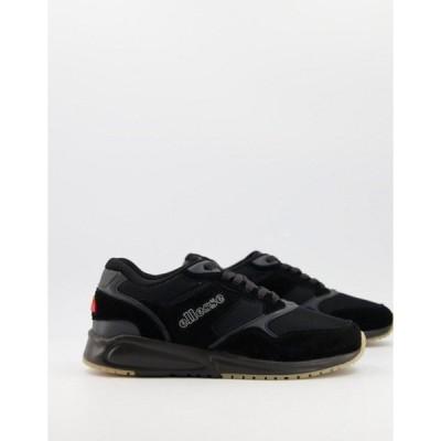 エレッセ メンズ スニーカー シューズ Ellesse NYC84 runner sneakers in black