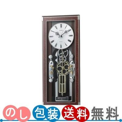 リズム メロディ電波からくり掛時計(30曲入) 4MN535SR23 送料無料・ギフト包装無料・のし紙無料 (A3)