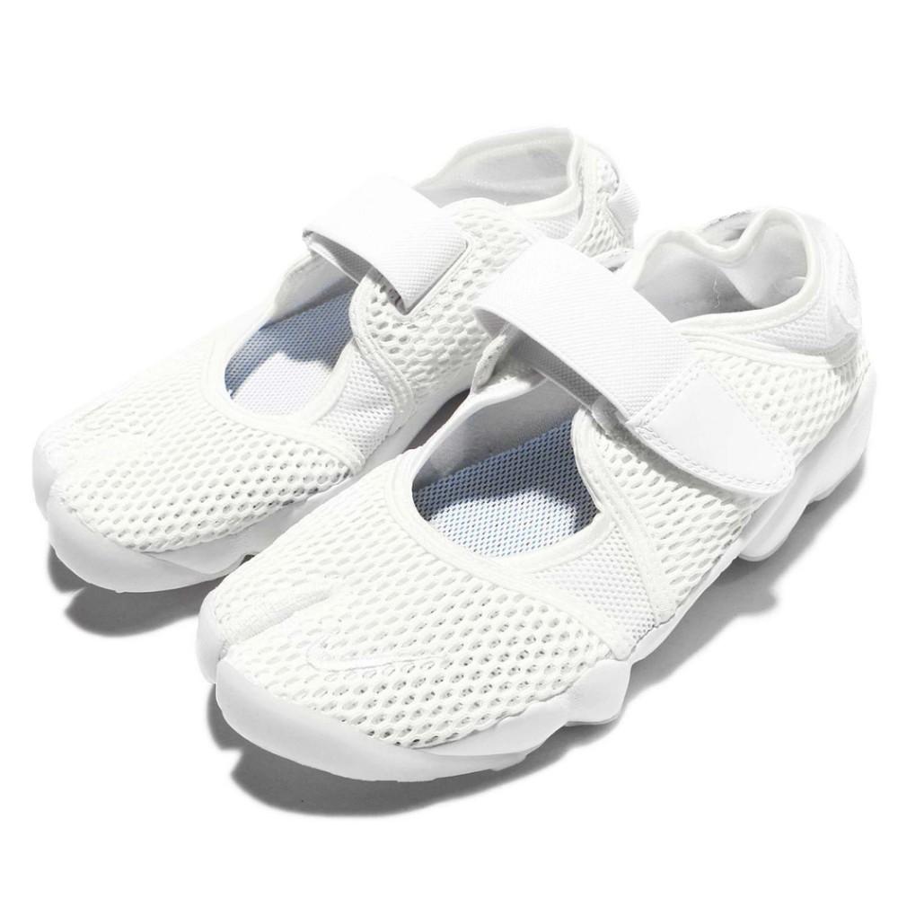Nike Air Rift BR 女款 分趾鞋 休閒鞋 魔鬼氈 涼鞋 白 848386100 Sneakers542