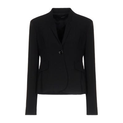 アンナリータ エンネ ANNARITA N テーラードジャケット ブラック 46 ポリエステル 97% / ポリウレタン 3% テーラードジャケット