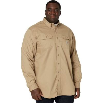 カーハート Carhartt メンズ トップス 大きいサイズ Big & Tall Flame-Resistant Classic Twill Shirt Khaki