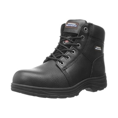 Skechers for Work Men's Workshire Relaxed Fit Work Steel Toe Boot,Black,13