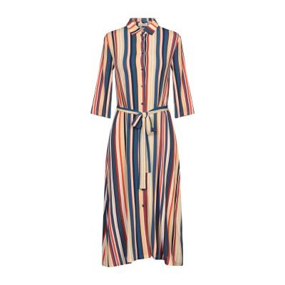 SIYU 7分丈ワンピース・ドレス ベージュ 38 レーヨン 95% / ポリウレタン 5% 7分丈ワンピース・ドレス