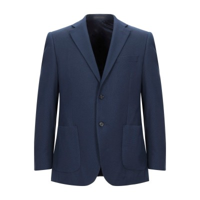 LUBIAM テーラードジャケット ブルー 48 ウール 65% / コットン 35% テーラードジャケット