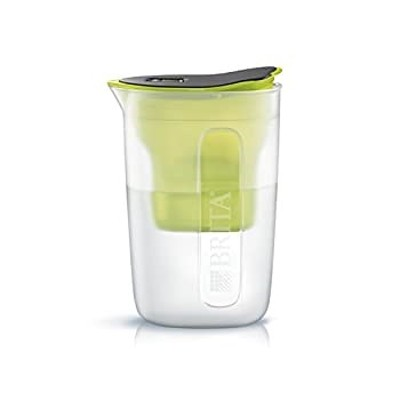 ブリタ 浄水器 ポット 浄水部容量:1.0L(全容量:1.5L) ファン ライム マクストラプラス カートリッジ 1個付き 日本仕様日本正規品